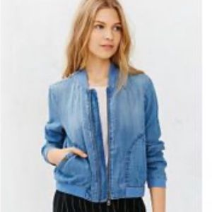 Urban Outfitters BDG Chambray Drapey Bomber Jacket